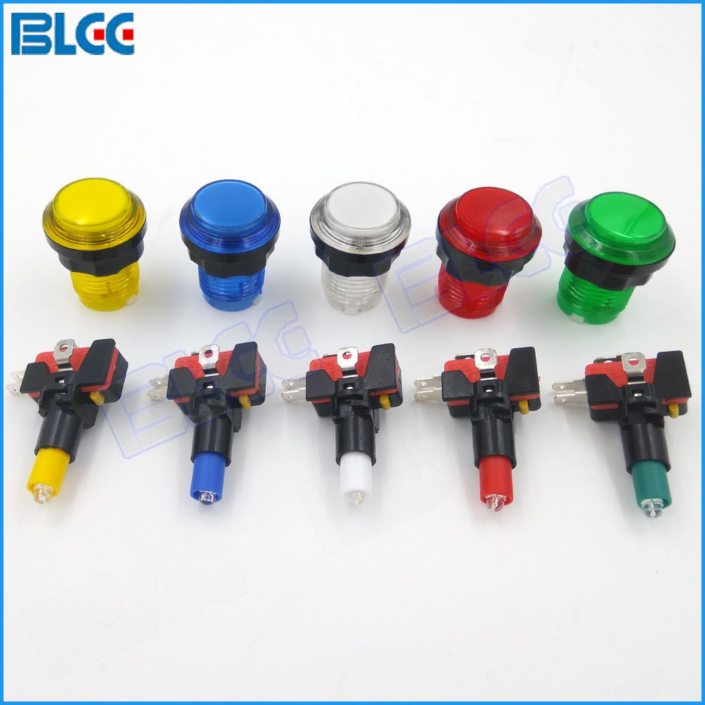 30 mm Illuminated Arcade Button LED Push Buttons with Microswitch Jamma Arcade Part DIY(China (Mainland))