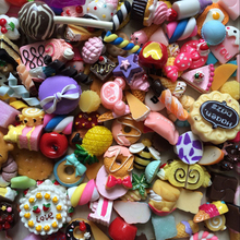 50PCS/Lot Dollhouse Miniature Mixed Food Set 1/12 Mini Food Cakes Donuts Candy Biscuit For Barbie BJD Doll House Play Toys(China)
