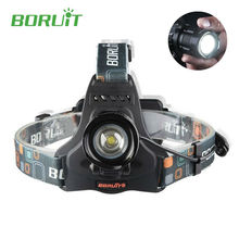 High Power Boruit rj-2157 2000LM Led Headlamp Flashlight forehead Torch XML L2 5 Modes Zoomable with Charger for Fishing Camping