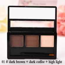 BY NANDA Professional No.01 Eye Brow Makeup Waterproof Glitter and Shimmer Eyebrow Powder Palette Eye Shadow Make Up Set Kit Bhs