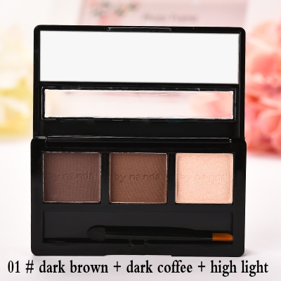 BY NANDA Professional No.01 Eye Brow Makeup Waterproof Glitter and Shimmer Eyebrow Powder Palette Eye Shadow Make Up Set Kit Bhs(China)