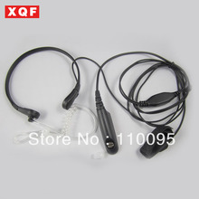 XQF Throat Mic Earpiece/Headset for Motorola GP328/340/GP 338/PTX760 Walkie talkie