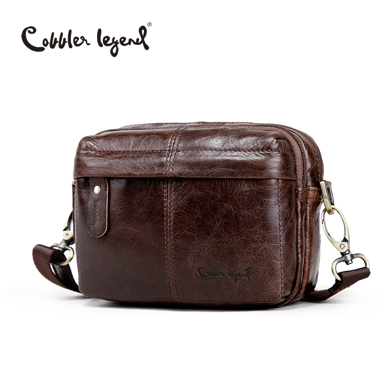 Cobbler Legend Fashion Brand Designer Mens Genuine Leather Messenger Shoulder Cross-Body Bag For Men Travel Bags<br>
