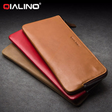 QIALINO Card Slot Holder Leather Wallet Case For Samsung Galaxy S8 Plus S7 S6 Edge Plus Bill Site Phone Bags Pouch Purse Holster(China)