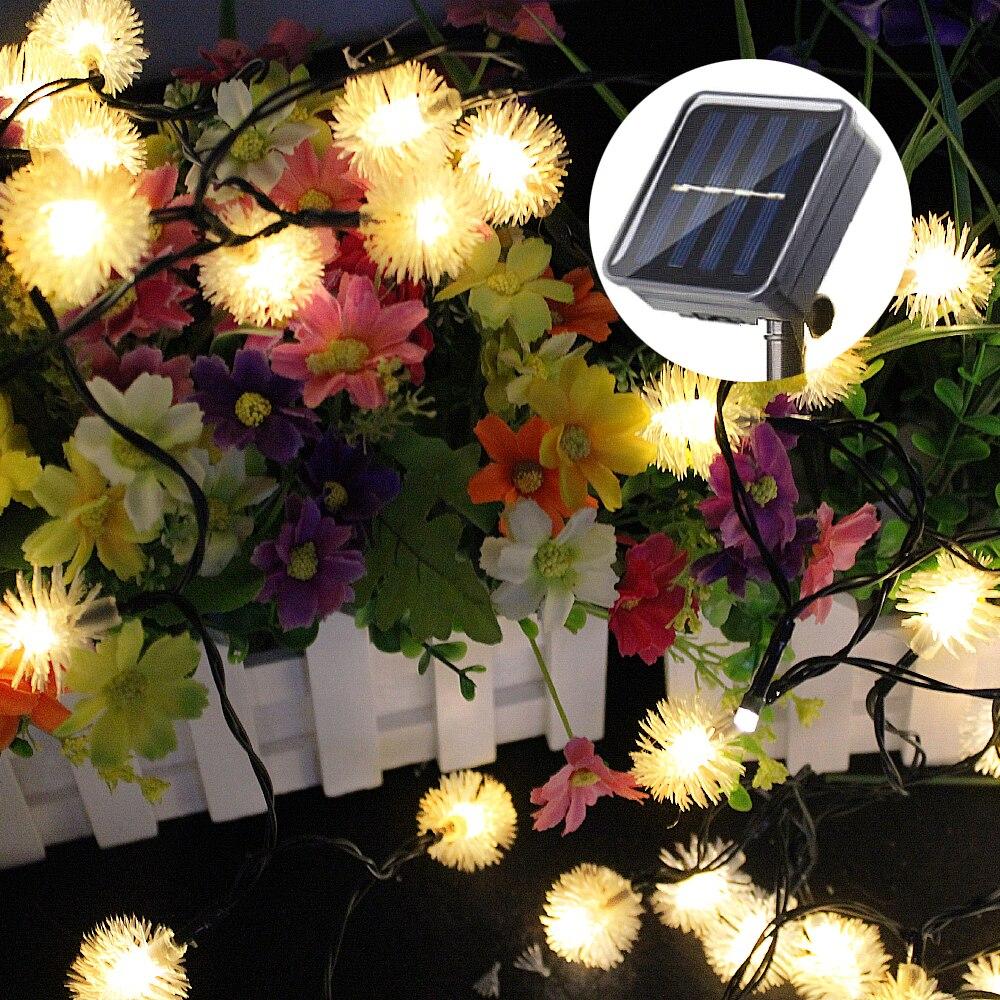 Solar Powered Christmas Garden Lights Led String Outdoor Decorative Garden  Lighting Waterproof Snowballs LED Fairy Lights Sensor   Shop For Solar  Products ...