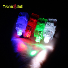Meaningsfull 100pcs/Lot Led Finger Light Glowing Dazzle Color Emitting Lamp Laser Beam Torch Concert Party Celebration Glow Toys
