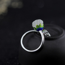 Silver low domestic supply S925 sterling silver jewelry small Qing new women's wear ring(China)