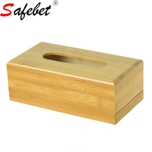 Wood Square Removable Tissue Canister Seat Type Restaurant Paper Storage Box Cover Room Napkin Holder Rack Desktop Organizer New(China)