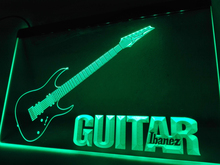LF087- Guitar Ibanez Music    LED Neon Light Sign  home decor  crafts