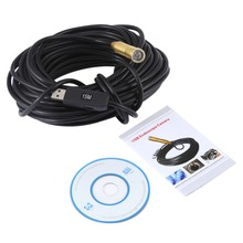 JINGLESZCN USB 14.5mm Dia 15m mini CMOS Cam Endoscope Waterproof Borescope Digital Inspection Camera Snake Pipe Cam Night Vision