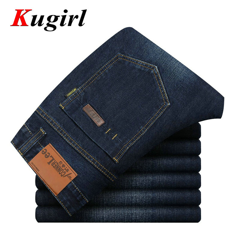 CONNER LEE Mens Jeans Straight Fitness Classic Denim Jeans Famous Brand Pants Casual Jeans Mens Business Formal Solid JeansОдежда и ак�е��уары<br><br><br>Aliexpress