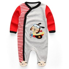 Newborn Baby Clothes Babyworks Baby Rompers One Pieces Baby Romper Infant Animal Model Boys Girls Long Sleeve Jumpsuits
