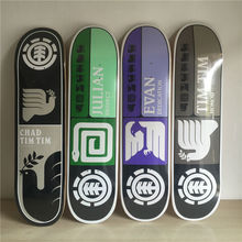 8 inch Quality Element skateboarding Decks Colorful pattern made by Canadian Maple Wood Shape Skateboard deck for pro SK8ER(China)