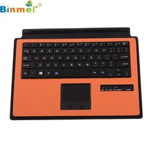 Beautiful Gift Brand New Orange Wireless Bluetooth keyboard Case Touchpad for Microsoft Surface 3 10.8 inch Dec28(China)