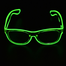 5 Colors el glasses El Wire Fashion Neon LED Light Up Shutter Shaped Glow Rave Costume Party DJ Bright Glasses Hot Sale