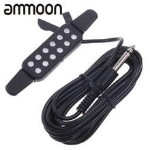 High Quality Black Acoustic Guitar Pickup Microphone Wire Sound Pickup 12 Hole Sound Pickup for musical instrument