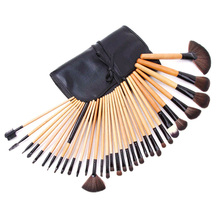 32Pcs Professional Makeup Brushes Set Soft Face Powder Foundation Eyebrow Eye Shadow Brushes Pouch with 1pcs Brush Egg(gift)
