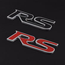 Car RS Logo Sticker Emblem Badge Decal For Ford Focus Audi A1 A3 A4 A6 A8 L Sline S4 S5 S6 S8 Q3 Q5 Q7 Skoda Renault Car Styling(China)