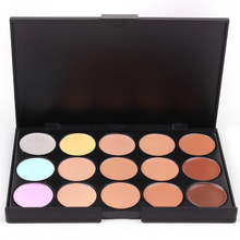 10*15cm Natural Professional Concealer Palette 15 Colors makeup Foundation Facial Face Cream Palettes Cosmetic make up color(China)