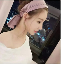 2016 New Korean lady wavy knot headband solid strip spring bow hair all-match fold headbands knot headwrap women accessories