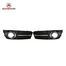 2016 One Pair Black Front Car Fog Lights Cover Grilles Replacements for Audi A4/B8 2008-2011