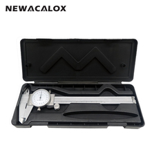 Shock-proof Stainless Steel Precision Vernier Caliper Metric Micrometer Gauge Measuring Tool Dial Caliper 0-150mm/0.02mm(China)