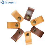 Ollivan PU Leather Cable Winder Earphone Wire Organizer Earbud Wrapped Cord Tie Holder Wrap Wrenches For Headphone Accesories
