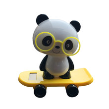 Solar Powered Dancing Animal Swinging Animated Bobble Dancer Toy Car Decor New drop shipping(China)