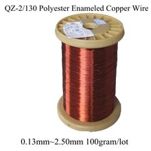 0.13MM~2.50MM many size 100gram/roll Polyester Enameled Copper wire Magnetic Coil Winding QZ-2/130 Red Magnet Wire Free Shipping