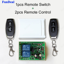 433Mhz Universal AC 250V 110V 220V RF 2 Ch Wide Voltage Wireless Remote Control Switch Receiver Module With 2pcs Remote Controls