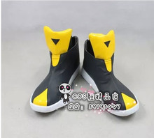 Digimon Lee Jenrya Long Brown Cosplay Shoes Boots X002(China)