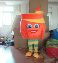 custom-made grinning orange mascot costume for adults orange costume