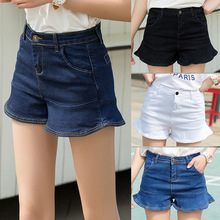 Denim Skort Shorts For Women's 2017 Summer New Arrival Double Zipper Fashion Sexy Woman Jean Shorts Skirt Plus Size(China)