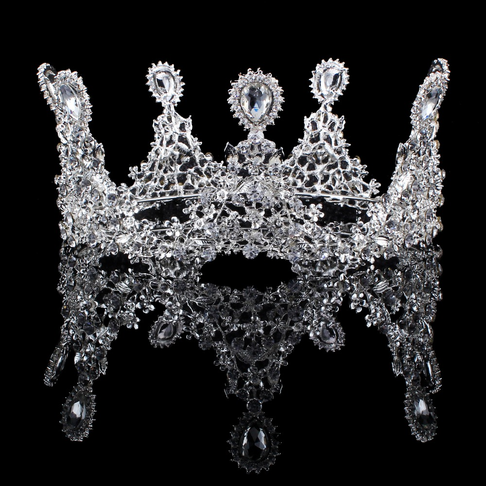 Tiaras and Crown Wedding Hair Accessories with Rhinestone Water Drop Tiara Bridal Crown Wedding Tiaras for Brides Hair Ornaments
