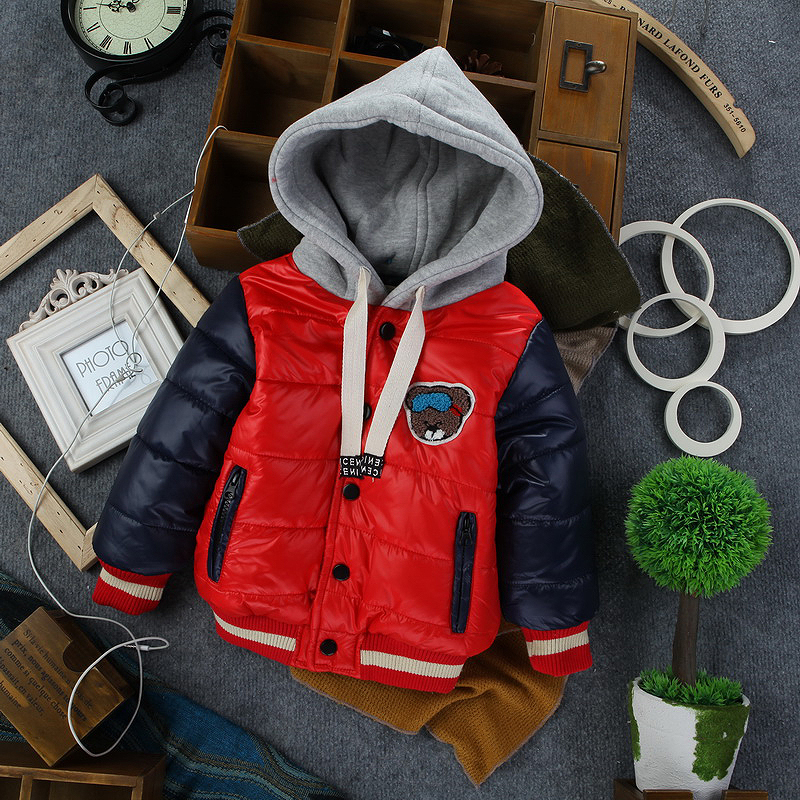 2016 brand New children baby boys korean europe styling winter warm fleece lining hoodies outerwear coat cotton-padded jacketОдежда и ак�е��уары<br><br><br>Aliexpress