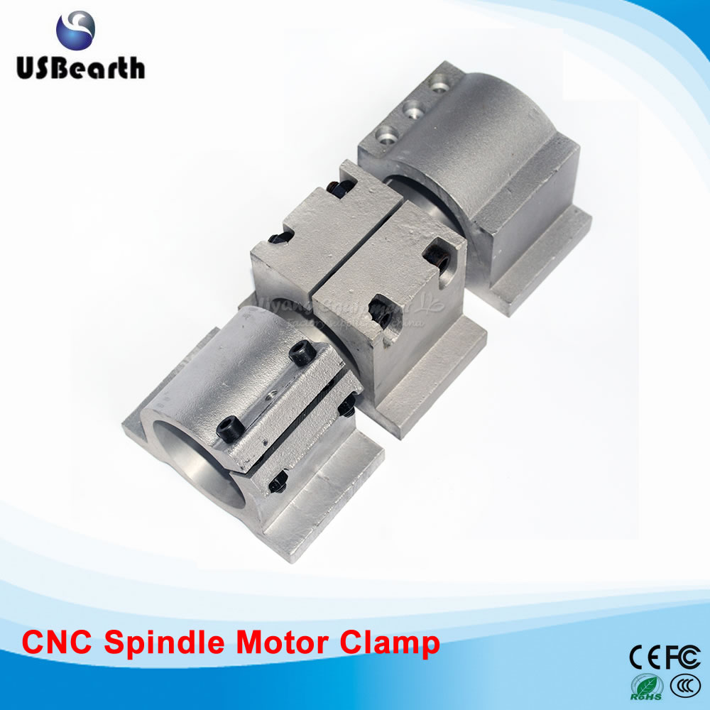 CNC Parts 65mm 80mm 125mm Spindle Motor Clamp Adjustable Fixed for DIY CNC Router Milling Machine<br>