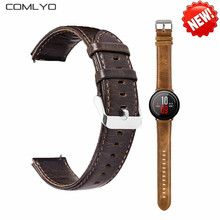 HOT High quality Genuine Leather strap for xiaomi HUAMI AMAZFIT Pace Smart Watch bracelet belt Fitness Tracker GPS bands soft(China)