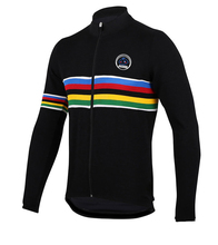 Men cycling jersey fleece 2016 long sleeve black jersey MTB bike clothing bicycle clothing ropa ciclismo maillot brand