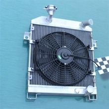 56MM ALLOY RADIATOR&FAN KIT For JAGUAR MK1/MK2 MK I/II S-TYPE SALOON M/T 1955-1967 Good radiator hold your car styling