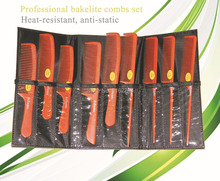Professional cut art tools hair Bakelite comb set, High temperature resistant ANNA combs antistatic combs set for stylists
