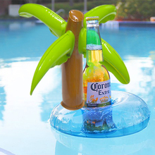 5 Pcs/set PVC Inflatable Coconut Palm Tree Water Toys Drink Coke Cup Holder Mobile Phone Holder Swimming Pool Party Favor Gifts
