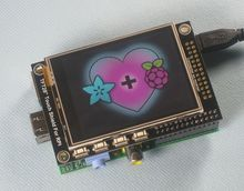 "2.8"" TFT LCD expansion display + touchscreen for Raspberry Pi B+ /B Board(China)"