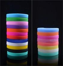 1PC Unisex Trendy Silicone Rubber Flexible Wristband Wrist Band Cuff Bracelet Bangle For Women Men