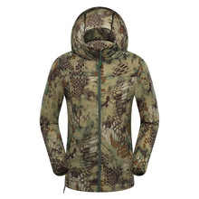Men Superdry Tactical Skin Jacket Military Camouflage Waterproof Quick Dry Jacket Breathable Hooded Raincoat Windbreaker Coats(China)