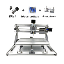 DIY mini laser CNC engraving machine 2500MW CNC 1610 PRO with 500MW Pcb Milling Machine with GRBL control(China)