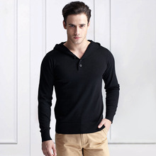 2016 Spring male sweater v-neck full length solid patch design men's underwears basic  pullover  sweater for men
