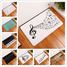 2017 New Home Decor Guitar Piano Notes Carpets Non-slip Kitchen Rugs for Home Living Room Floor Mats 40X60 50X80cm