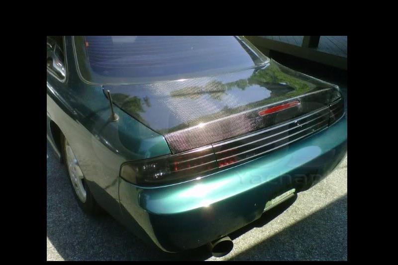 1995-1998 Nissan S14 S14A Silvia Zenki Kouki 200SX 240SX Trunk Bootlid with Break Light Hole CF (10)