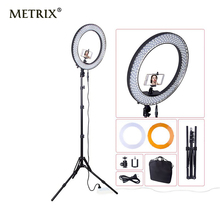 "Metrix Newest RL188 DSLR Camera Photo Studio Phone Video 18""55W 240 LED 5500K Photography Dimmable Ring Light Lamp&Tripod Stand(China)"