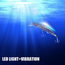 New USB Rechargeable Flashing LED light Twitching Fishing Lures Bait Electric Life-like vibrate fishing Lures durable practical(China)